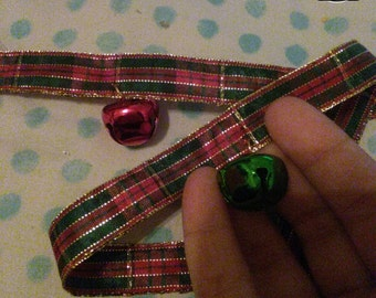 Red And Green Plaid Choker