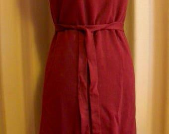 Vintage Pendleton Virgin Wool Shift Dress w/ Belt 1970s