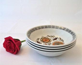 Vintage Bowl, Broadhurst Ironstone Bowl .Calipso, Cereal Bowl, Ceramic Bowl, Stoneware, Earthenware,  Crockery