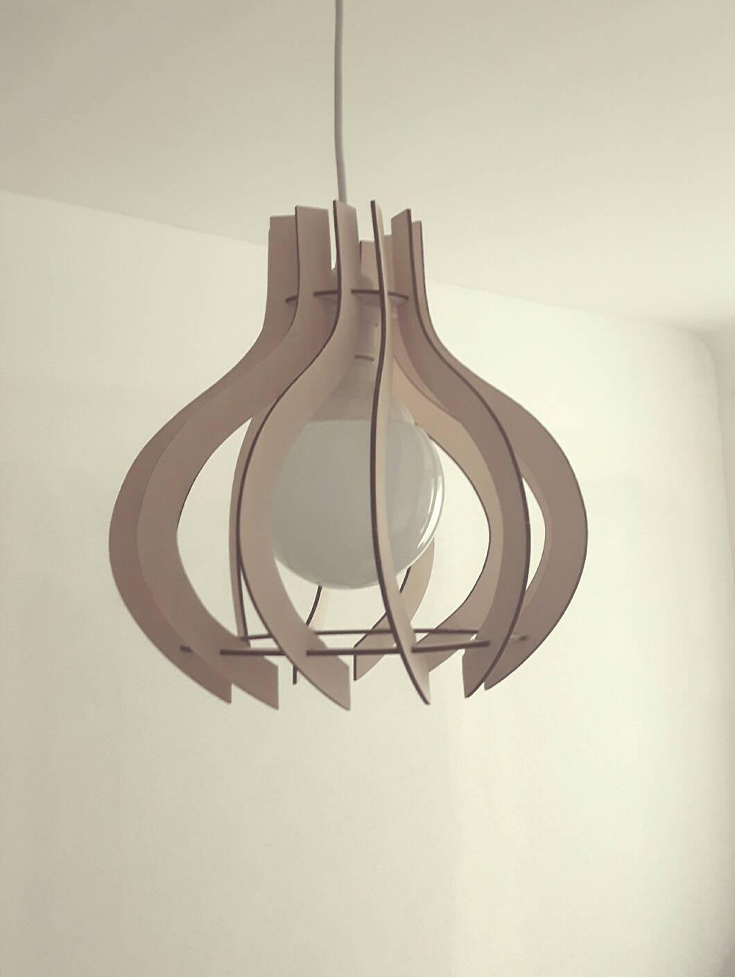 plywood lighting. Plywood Lamp Shade ALLIUM, Laser Cut, Natural, Original Design Hanging Wooden Pendant Lighting