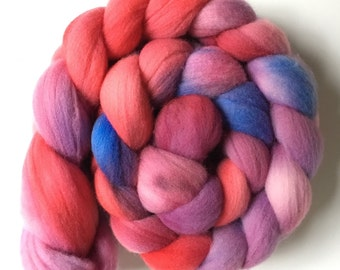 Hand Dyed Merino Wool Roving // 4 oz // Kettle Dyed