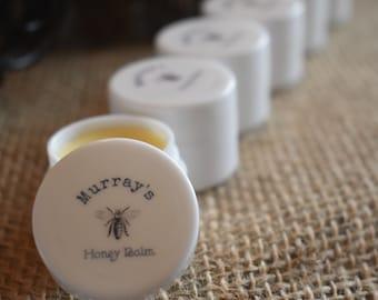 HONEY BALM - Homemade All Natural Honey & Beeswax Lip Balm 0.25 oz