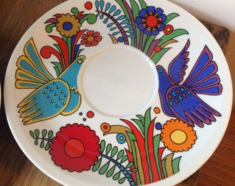 70's Vintage Villeroy and Boch Acapulco saucer plate