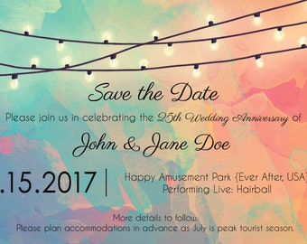 Anniversary Save the Date PERSONALIZED