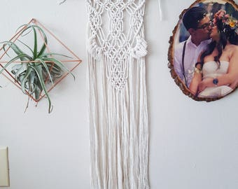 Double Pom Pom Macrame Wall Hanging