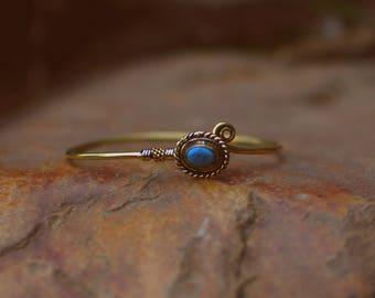 Brass Golden Bracelet with Stone