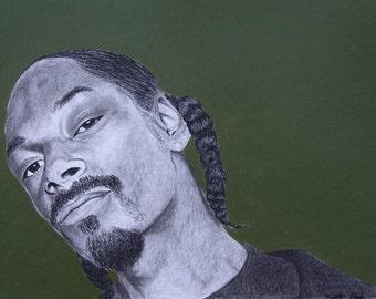 Snoop Dogg Black Charcoal Print