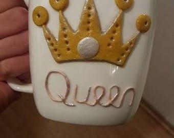 Crown Mug Queen Tea Coffee