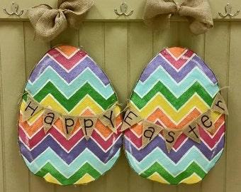 Happy Easter Egg Double Door Set