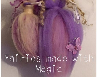 Motherly Love, Needle Felted Mother and Daughter. Waldorf Inspired Fairy