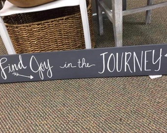 Find Joy in the Journey Wood Sign Home Decor Wall Hanging Housewarming Gift