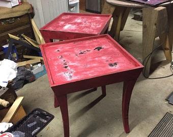 Refurbished end tables