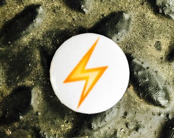 """lightening strike emoji 1"""" button"""