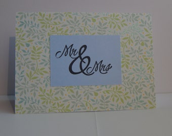 Mr. & Mrs. Card, Blue and Green