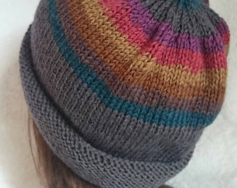 Women's Slouchy Knit Hat / Handknit Slouchy Hat / Women's Knit Hat / Knitted Hat