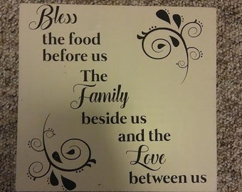 bless the food kitchen sign