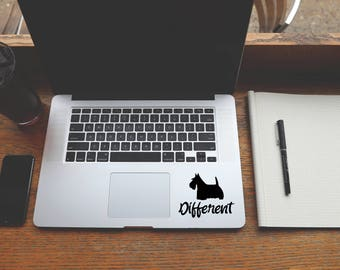 Laptop Sticker, Laptop Decal, Macbook Sticker, Car Decal, Wall Art Scottish Terrier, Scotty  #218