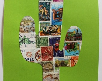 Handmade Stamp Based Collage Posters.