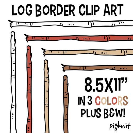 Log border clip art wood stick clipart birch background