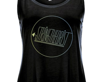 Women's Curved Hem Tencel Vest Graphic (Circle Logo) - Stringtheorist Official Merchandise
