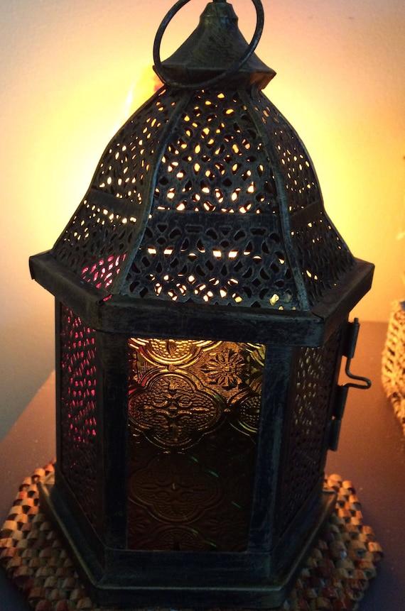 Wedding Table Decor,Wedding Centre Piece,Wedding Lantern, Moroccan Style Lantern, Stained Glass Lantern, Home Decor, Vintage Style Lantern