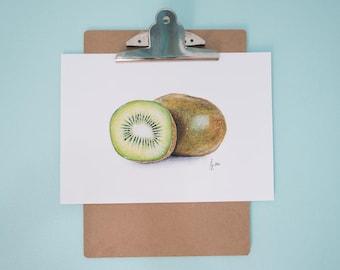 Kiwi Art Print, Realistic Art