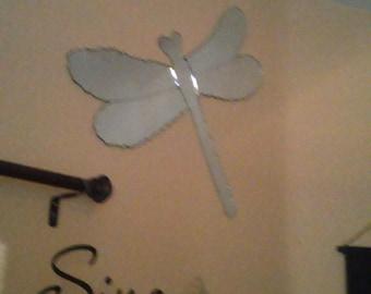 Custom chipped edge Dragonfly mirror