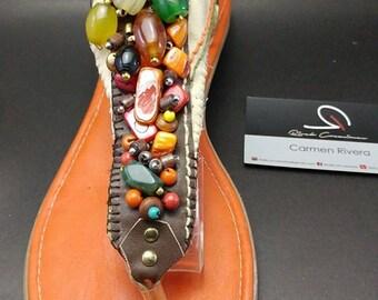 Bohemian Sandals, Boho Sandals, Beaded Sandals, Thong Sandals, Summer Sandals, Womens Flats, Beaded Flats, Ladies Sandals, Womens Sandals