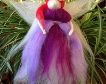 Carded wool Purple Fairy