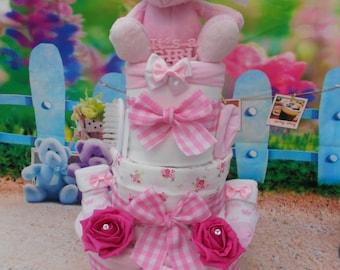 Deluxe 3 tier Baby Nappy Cake