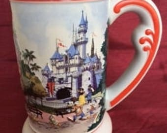 Vintage Disneyland Stein, Disney Beer Mug, Disney, Mickey Mouse, Donald Duck, Snow White,  Disney Collectibles, Beer Stein, Gift for Him,Mug