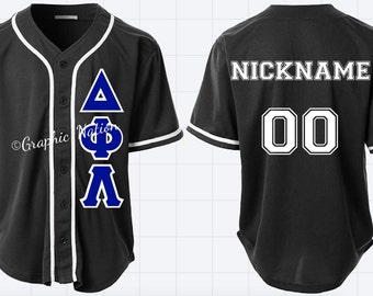 Customizable Baseball Jersey. Greek or Non-Greek.