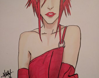 A4 Drawing(print) of Lisa from Sunstone