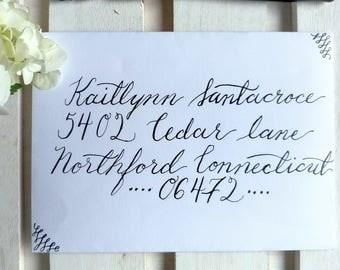Custom Calligraphy Envelope Addressing