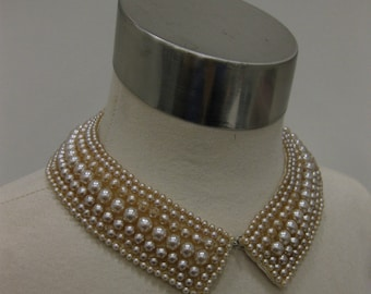 Vintage 1950's Baar and Beards Japan Pearl Beaded Collar