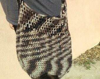 Crochet cross body bag market tote