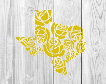 Yellow Rose of Texas Decal Design, SVG File, Rose, Flower, Yellow Rose, Yellow Rose of Texas, Texas, Cricut