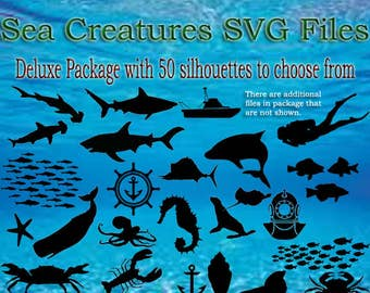 Sea Creatures SVG PNG