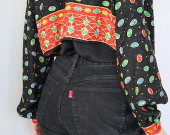 Vintage Black High Waisted Jeans