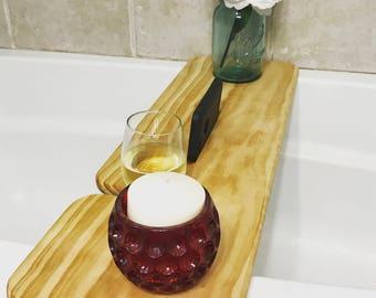 Bathtub Caddy | Bathtub Board | Bathroom Caddy | Bathroom Board | Bathroom Decor | Bathroom Phone Holder | Bathroom Wine Holder | Bath Shelf