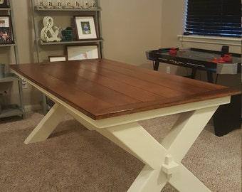 """6ft Simple """"X"""" style Farmhouse Table"""