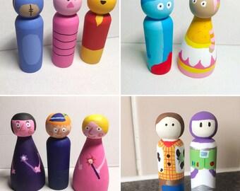 Custom Painted Peg Doll