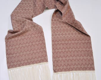 Handwoven Scarf in Cotton and Bamboo