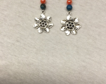 Beads & Sunflower Earrings