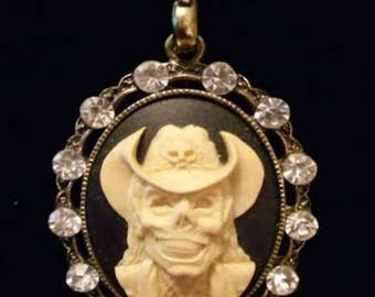 Zombie Cowboy Cameo Necklace