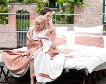 """Belgian linen throw pillow cushion cover Louisiana stripe 20""""x20"""" or 25""""x25"""" linen home decor"""