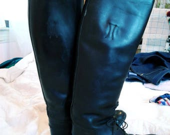 Vintage Equestrian Boot Riding Boot  size 6-7