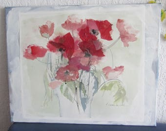 "Watercolor ""Red poppy"""