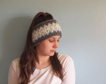 Camille Ear Warmer // Hand Knit Ear Warmer // Hand Knit Headband // Women's Ear Warmer // Women's Headband  // Handmade Headband