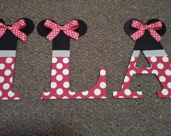 Minnie Mouse Letters Wall Decor